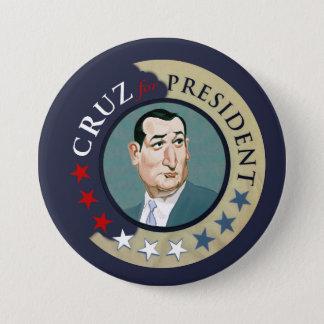 Cruz for President 2016 3 Inch Round Button