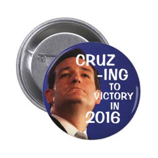 Cruz-ing to victory 2 inch round button