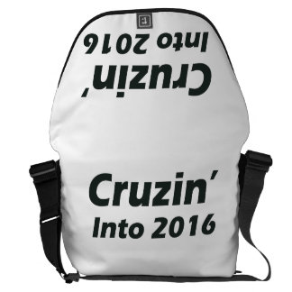 Cruzin' into 2016 - Black and White Courier Bags