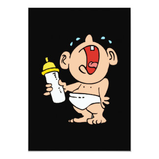 """cry baby bottle 5"""" x 7"""" invitation card"""