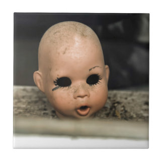 Cry Baby Vintage Doll Head Dirty Window Ceramic Tile