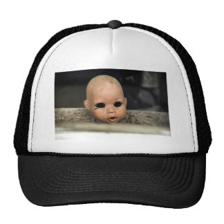 Cry Baby Vintage Doll Head Dirty Window Trucker Hat