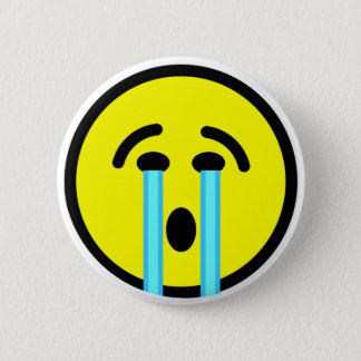 cry cry cry emoticon 2 inch round button