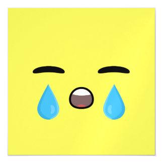 Cry Emoji Magnetic Invitations
