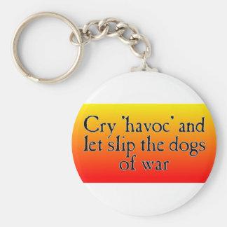 Cry Havoc Basic Round Button Keychain