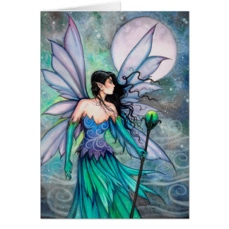 Cry of the Wind Watercolor Fantasy Fairy Art Card