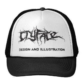 CRYFACE, Design and Illustration Trucker Hat