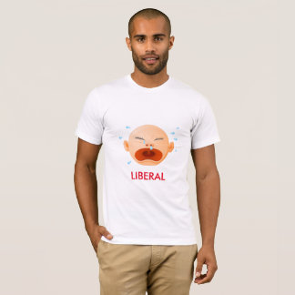 Crying Baby Liberal on American Apparel t-shirt