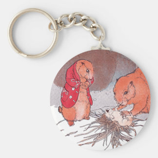 Crying Baby Prairie Dog Basic Round Button Keychain