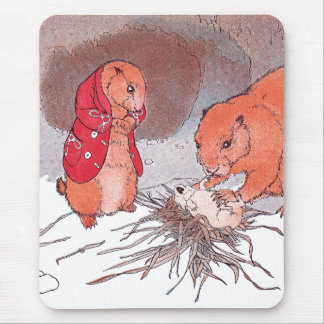 Crying Baby Prairie Dog Mouse Pad