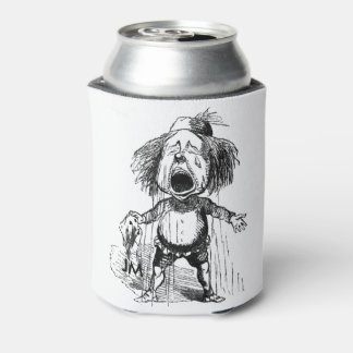 Crying Boy Cartoon Drawing Funny Black White Can Cooler