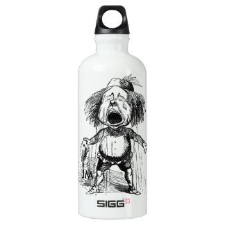 Crying Boy Cartoon Drawing Funny Black White Water Bottle