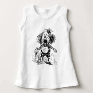 Crying Boy Funny Cartoon Vintage Drawing Emotional Dress