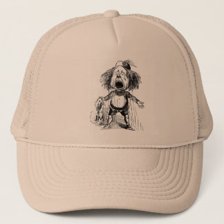 Crying Boy Funny Cartoon Vintage Drawing Emotional Trucker Hat