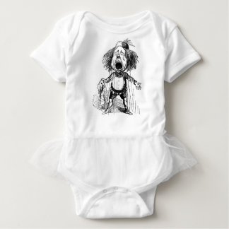 Crying Boy Funny Vintage Cartoon Drawing Baby Bodysuit