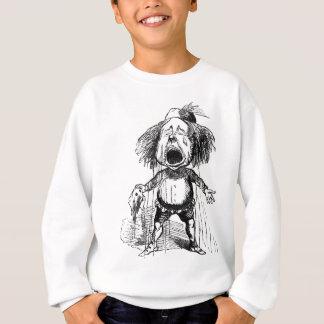 Crying Boy Funny Vintage Cartoon Drawing Sweatshirt