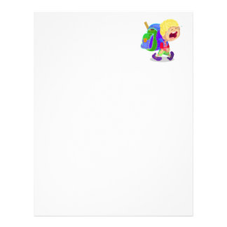 Crying Boy Personalized Letterhead