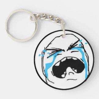 Crying Comic Meme Single-Sided Round Acrylic Keychain