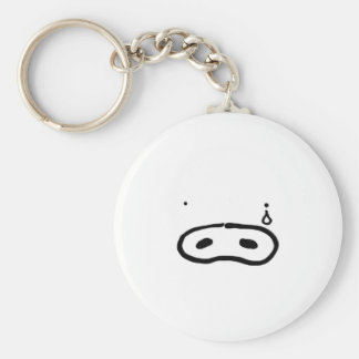 Crying cover basic round button keychain