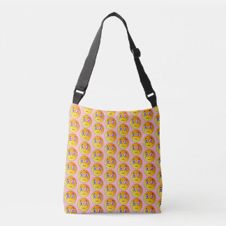 Crying emoji Face  All-Over-Print Cross Body Bag