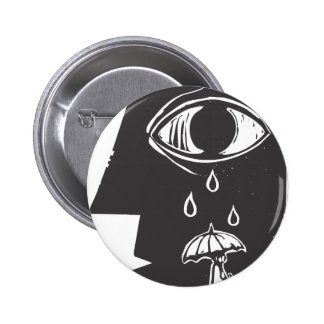 Crying Eye and Umbrella 2 Inch Round Button