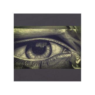 Crying Eye Wood Wall Decor