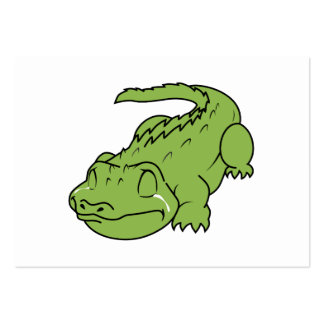 Crying Green Crocodile Tears Invitation Stamps Pack Of Chubby Business Cards