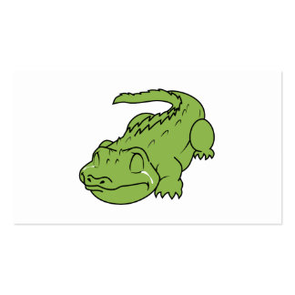 Crying Green Crocodile Tears Invitation Stamps Pack Of Standard Business Cards