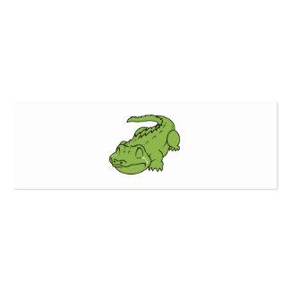 Crying Green Crocodile Tears Mug Bag Button Pin Pack Of Skinny Business Cards