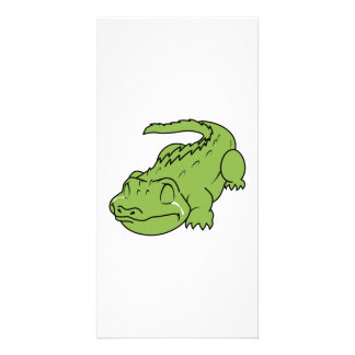 Crying Green Crocodile Tears Mug Button Pillow Pin Photo Card Template