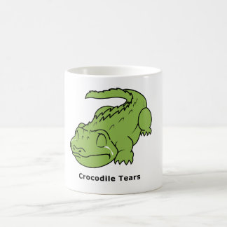 Crying Green Crocodile Tears Sticker Mug Bag Pins