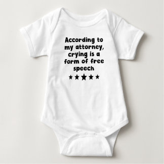 Crying Is A Form Of Free Speech Baby Bodysuit