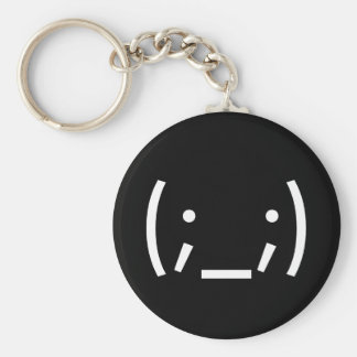 Crying (Japanese Smiley) Basic Round Button Keychain