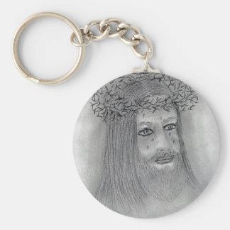 Crying Jesus Basic Round Button Keychain