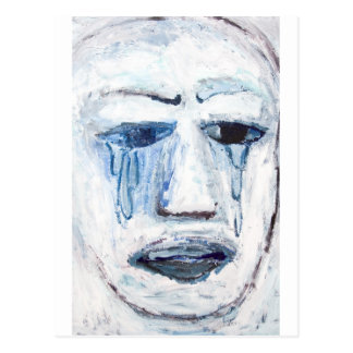 Crying Man (face portrait expressionism ) Postcard