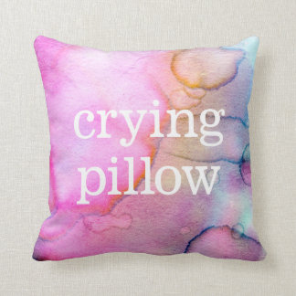 Crying pillow ~ watercolor tears