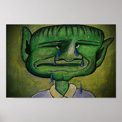 Crying Sad Man Poster