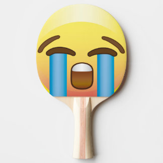 Crying Sad Tears Emoji Face Ping Pong Paddle