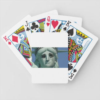 Crying Statue of Liberty Bicycle Playing Cards