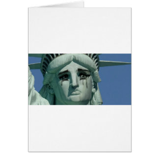 Crying Statue of Liberty Card