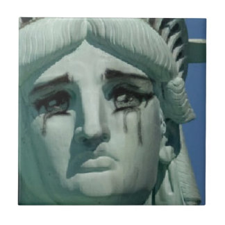 Crying Statue of Liberty Ceramic Tiles