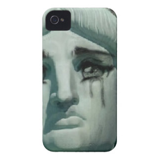Crying Statue of Liberty iPhone 4 Case-Mate Cases