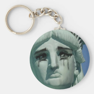 Crying Statue of Liberty Keychain