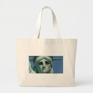 Crying Statue of Liberty Large Tote Bag