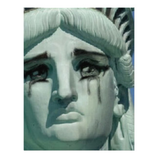 Crying Statue of Liberty Letterhead
