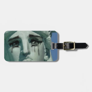 Crying Statue of Liberty Luggage Tag