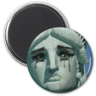 Crying Statue of Liberty Magnet