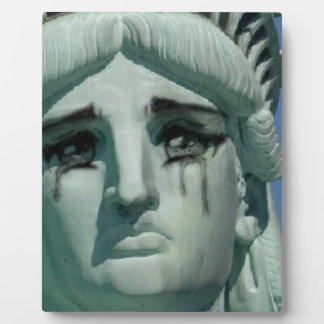 Crying Statue of Liberty Plaque