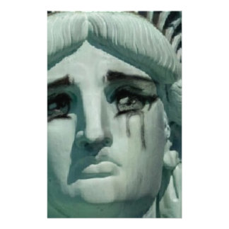Crying Statue of Liberty Stationery