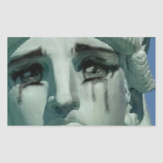 Crying Statue of Liberty Sticker